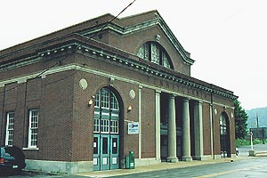 Johnstown station in 2002. Photo from TrainWeb.org