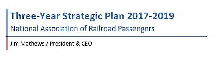 Strategic Plan  Rail Passengers Association  Washington Dc